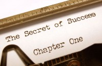 Powerful Headlines - Typewriter and Secrets of Success